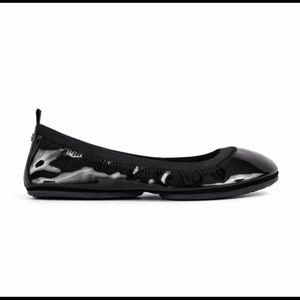 Yosi Samra Black Patent Leather Ballet Flat